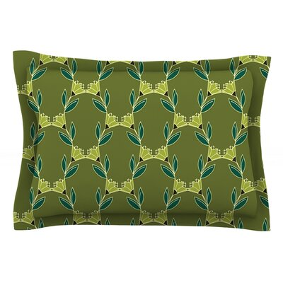 Flora Vine by Holly Helgeson Olive Featherweight Pillow Sham