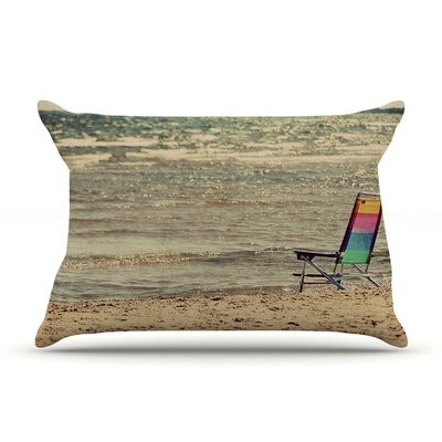 Beach Chair by Angie Turner Sandy Beach Cotton Pillow Sham