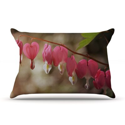 Bleeding Hearts by Angie Turner Flower Cotton Pillow Sham