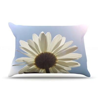 Daisy Bottom by Angie Turner Sky Flower Cotton Pillow Sham