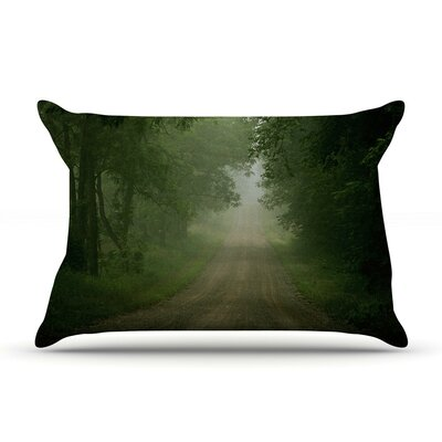 Foggy Road by Angie Turner Forest Cotton Pillow Sham