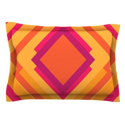 Diamond Dayze by Belinda Gillies Orange Featherweight Pillow Sham