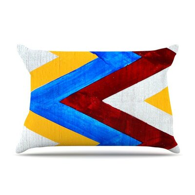 Zig Zag by Brittany Guarino Cotton Pillow Sham