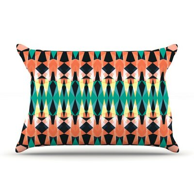 Triangle Visions by Akwaflorell Cotton Pillow Sham