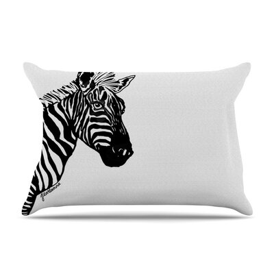 My Zebra Head by Geordanna Cordero-Fields White Featherweight Pillow Sham
