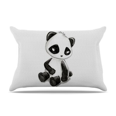 My Panda Sketch by Geordanna Cordero-Fields Cotton Pillow Sham