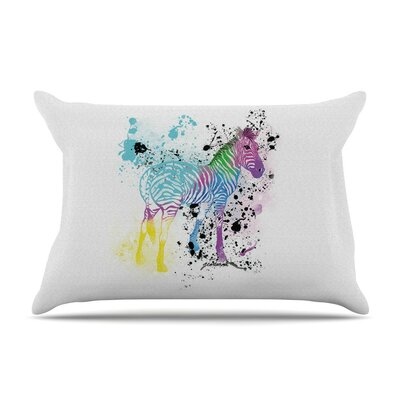 My Zebra by Geordanna Cordero-Fields Rainbow Cotton Pillow Sham