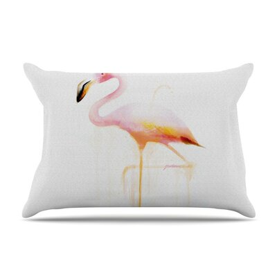My Flamingo by Geordanna Cordero-Fields Cotton Pillow Sham