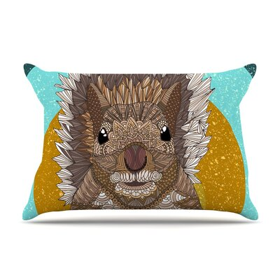 Squirrel by Art Love Passion Teal Featherweight Pillow Sham