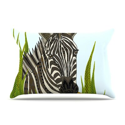 Zebra by Art Love Passion White Featherweight Pillow Sham