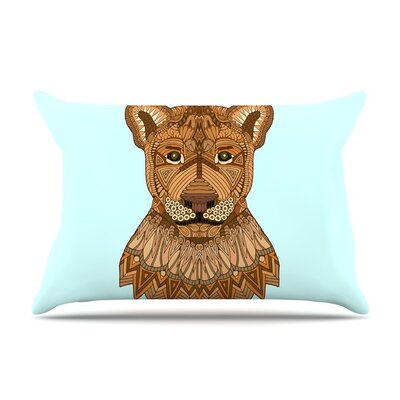 Lioness by Art Love Passion Blue Featherweight Pillow Sham