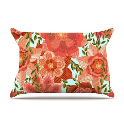 Flower Power by Art Love Passion Floral Cotton Pillow Sham