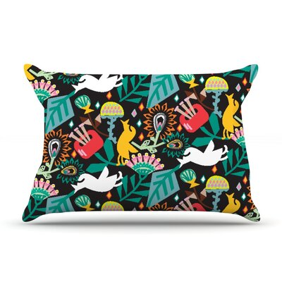 Folk Fusion by Agnes Schugardt Cotton Pillow Sham