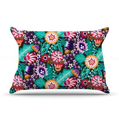 Folk Meadow by Agnes Schugardt Cotton Pillow Sham