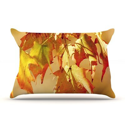 Autumn Leaves by Angie Turner Vibrant Cotton Pillow Sham