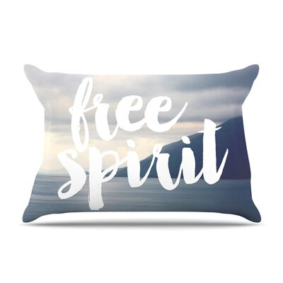 Free Spirit Coastal Typography by Catherine McDonald Cotton Pillow Sham