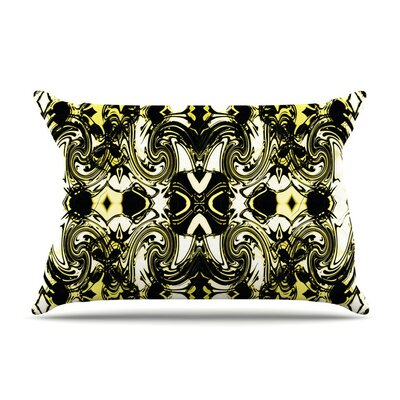 The Palace Walls II by Dawid Roc Yellow Featherweight Pillow Sham