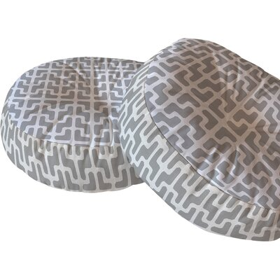 Lattice Jags Floor Pillow Size: 23 H x 23 W x 6 D