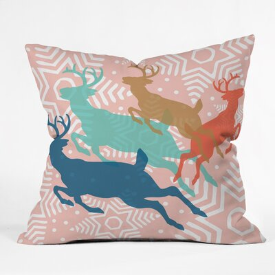 Dashing Through The Snow Serene Indoor/Outdoor Throw Pillow Size: Medium
