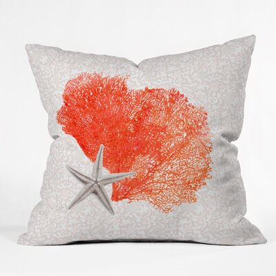 Coral Sea Throw Pillow Size: 16 H x 16 W