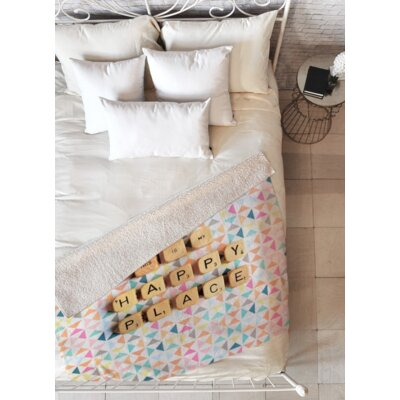 This Is My Happy Place Fleece Throw Blanket Size: 60 L x 80 W
