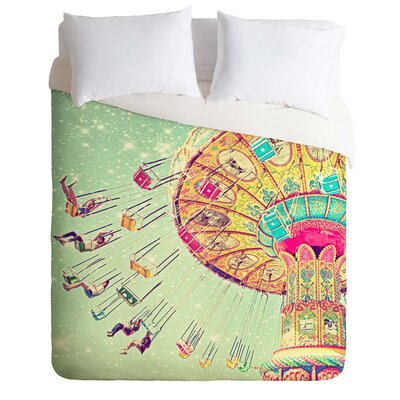 Swinging Through Stars Lightweight Duvet Cover Size: Twin