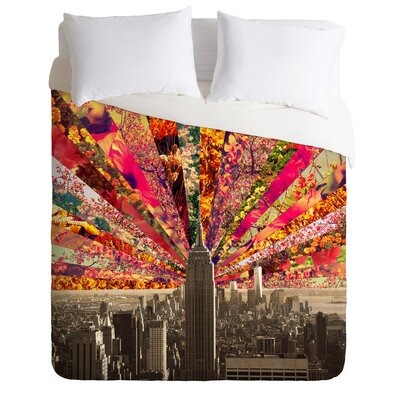 Blooming NY Lightweight Duvet Cover Size: King