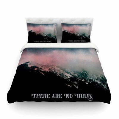 There Are No Rules Duvet Cover Size: Twin