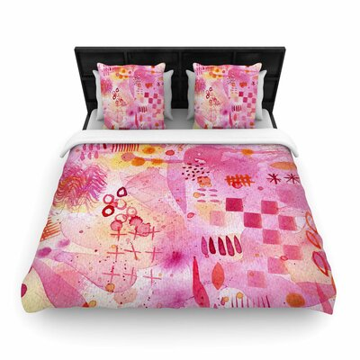 Sweet Dreams Woven Duvet Cover Size: King