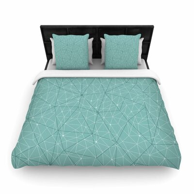 Wanderlust Blue River Song Woven Duvet Cover Size: King