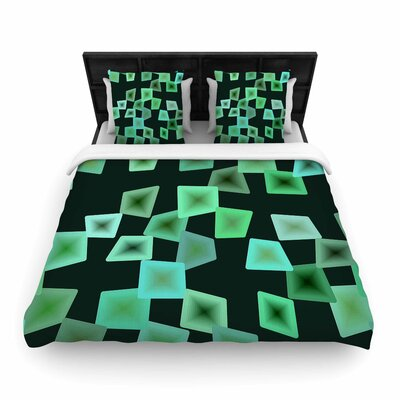 Seaglass On The Shore Woven Duvet Cover Size: Twin
