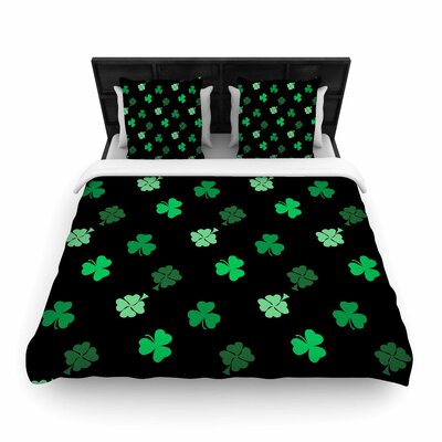 Shamrocks Woven Duvet Cover Size: Twin