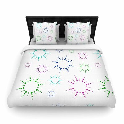 Rainbow Fireworks Woven Duvet Cover Size: Queen