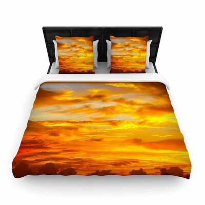 Painted Sunset Woven Duvet Cover Size: Queen