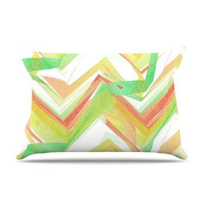 Summer Party Chevron by Alison Coxon Cotton Pillow Sham