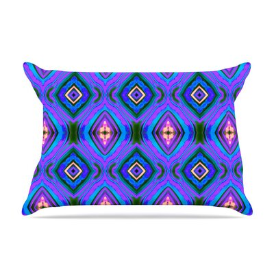 Dark Diamond by Anne LaBrie Blue Featherweight Pillow Sham