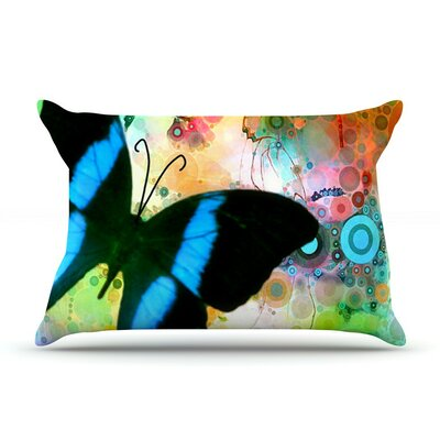 Colorful by Alyzen Moonshadow Butterfly Cotton Pillow Sham
