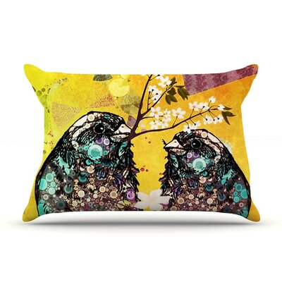 Birds in Love by alyZen Moonshadow Orange Featherweight Pillow Sham