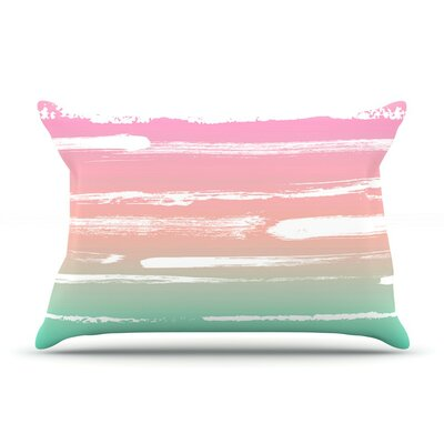 Painted Stripes Pink by Anneline Sophia Featherweight Pillow Sham