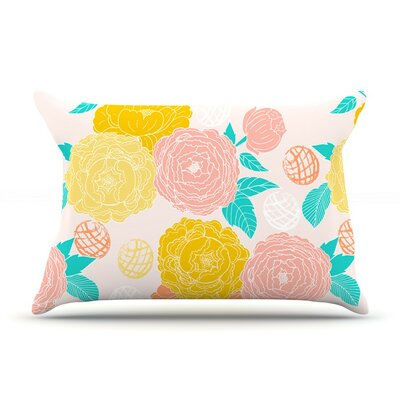 Peonies Peach by Anneline Sophia Cotton Pillow Sham