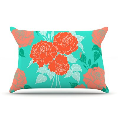 Summer Rose by Anneline Sophia Cotton Pillow Sham