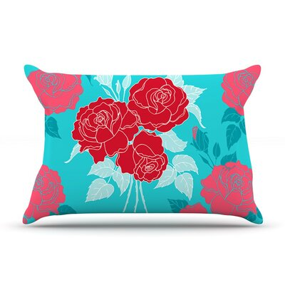 Summer Rose Red by Anneline Sophia Featherweight Pillow Sham