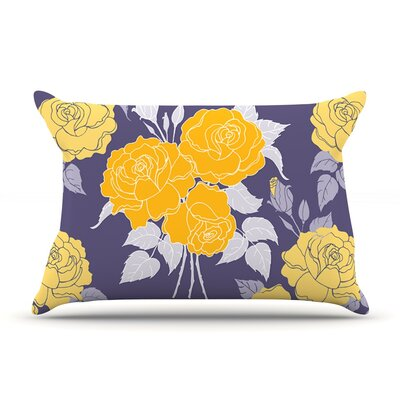 Summer Rose by Anneline Sophia Purple Lavender Featherweight Pillow Sham