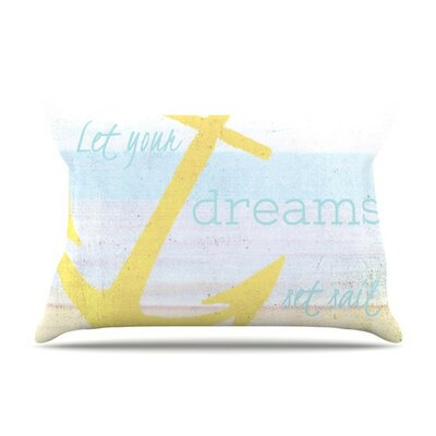 Let Your Dreams Set Sail by Alison Coxon Cotton Pillow Sham