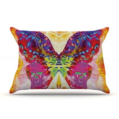 Butterfly Spirit by Anne LaBrie Yellow Featherweight Pillow Sham