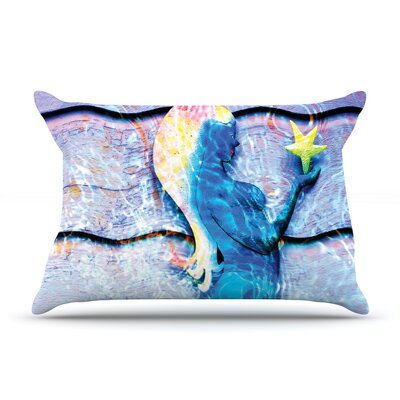 Mermaid Starlight by Anne LaBrie Cotton Pillow Sham
