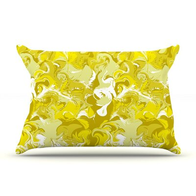 Marbleized in by Anneline Sophia Yellow Featherweight Pillow Sham