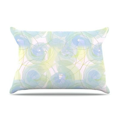 Paper Flower by Alison Coxon Cotton Pillow Sham