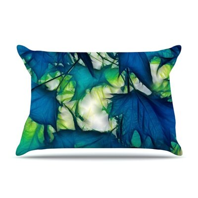 Leaves by Alison Coxon Cotton Pillow Sham