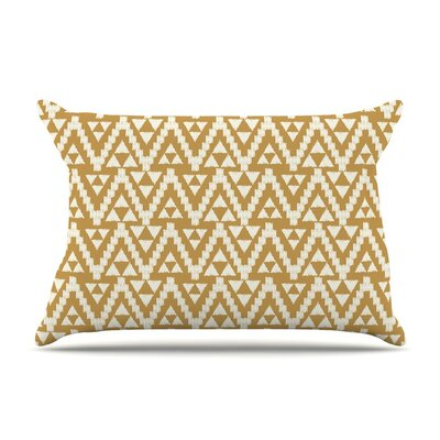 Geo Tribal Mustard Aztec by Amanda Lane Cotton Pillow Sham